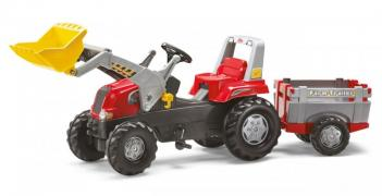 Pedal tractor with trailer and bucket Toys Rolly Junior RT 81139